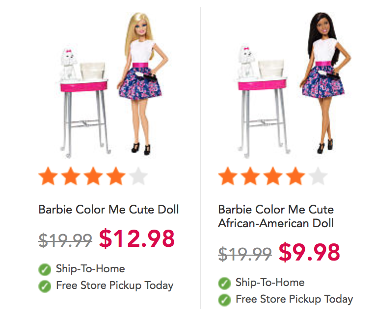 Compare and contrast barbie doll and phenomenal woman
